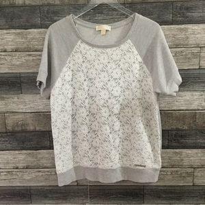 Michael Kors Gray lace front sweatshirt XL
